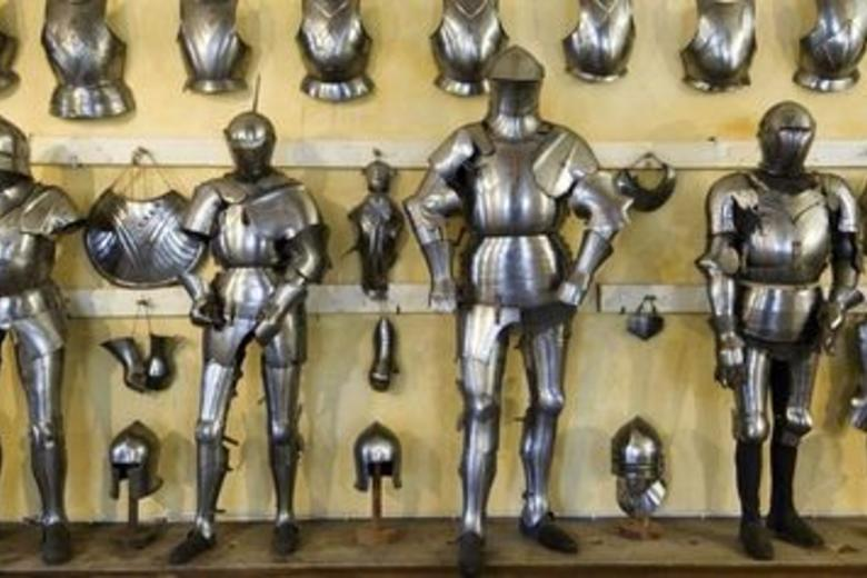 Selection of English Armour against yellow background