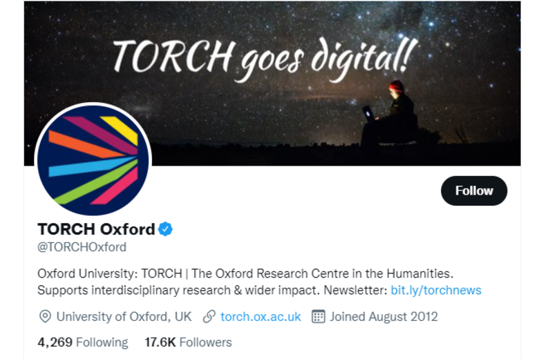 Screenshot of the TORCH Twitter page.