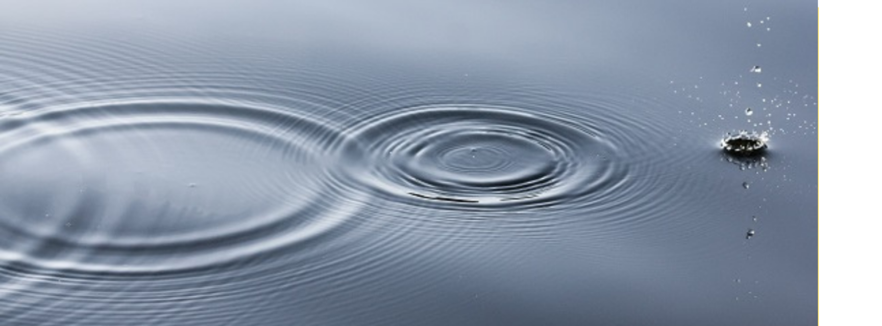 A series of circular ripples on calm water.