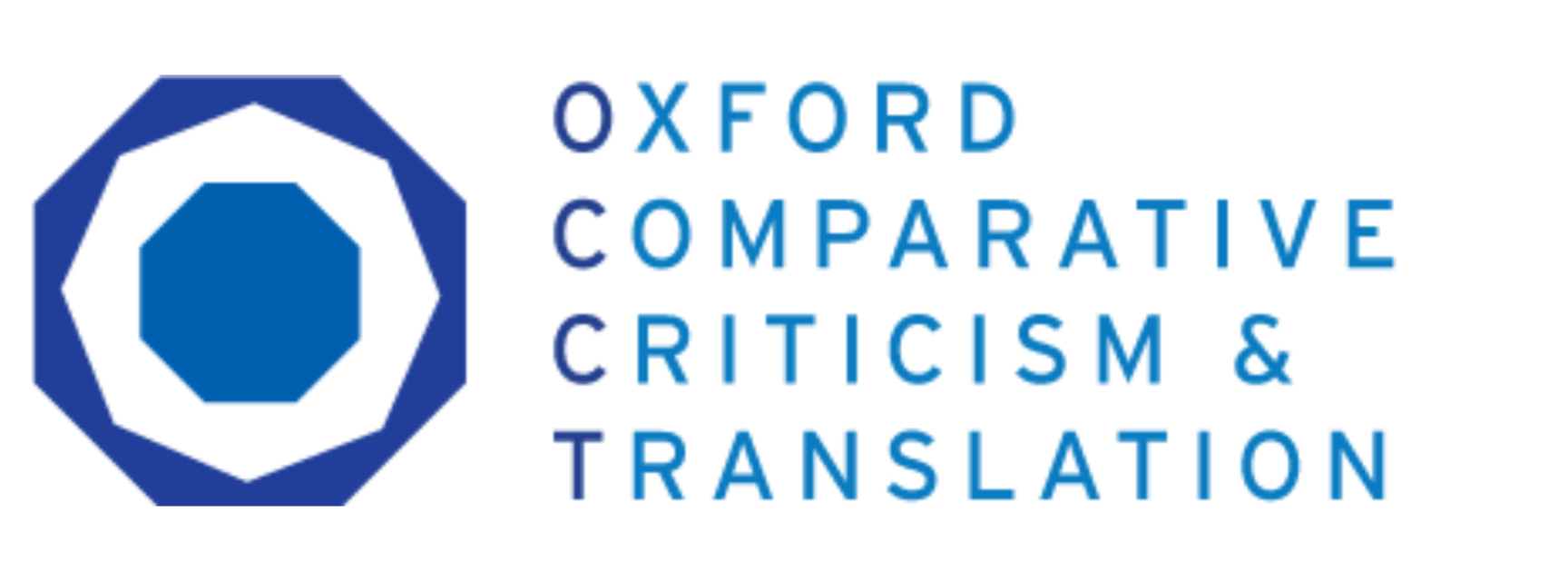 Logo for the Oxford Comparative Criticism and Translation Group, featuring a blue O