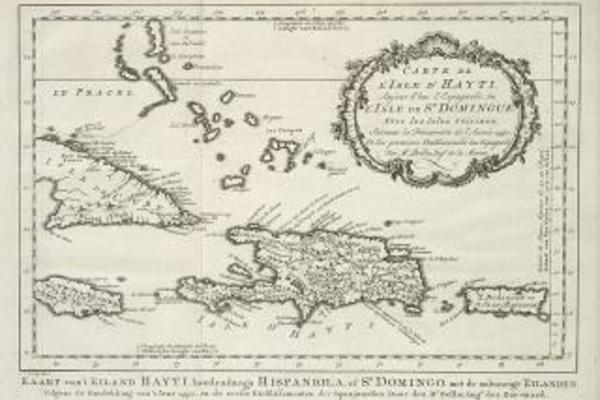 amh 8040 kb map of haiti and surrounding islands