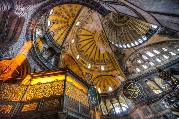 ceiling of the hagia sophia