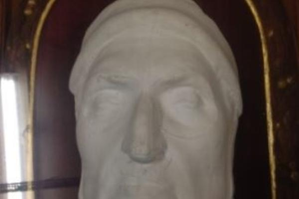 plaster cast of dante's face (replica)