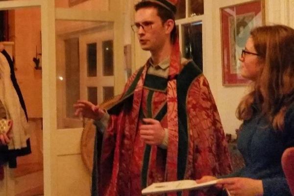 konstantin winters wearing robes like st nicholas
