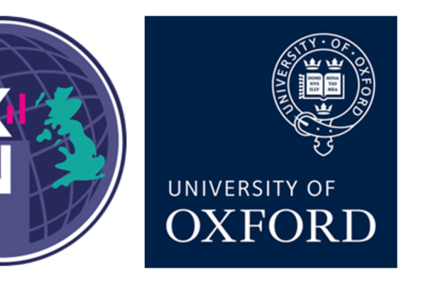 Logo of Reproductible Research Oxford, blue globe.