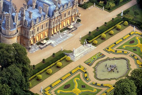 1 south front and parterre waddesdon manor photo john bigelow taylor c national trust waddesdon manor