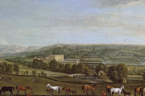 Chatsworth House by Pieter Tillemans 1684-1734