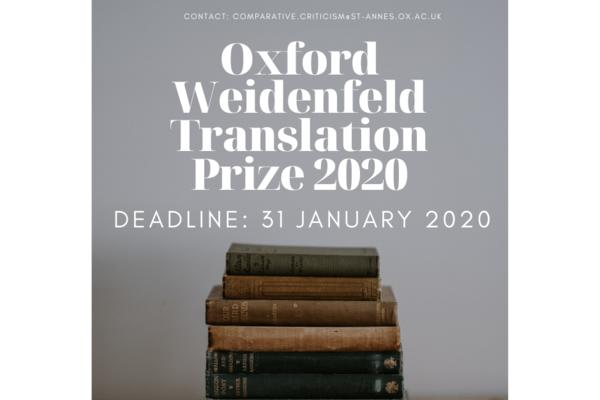 facebook oxford weidenfeld translation prize