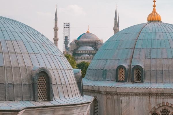 Blue skies and mosques in Turkey
