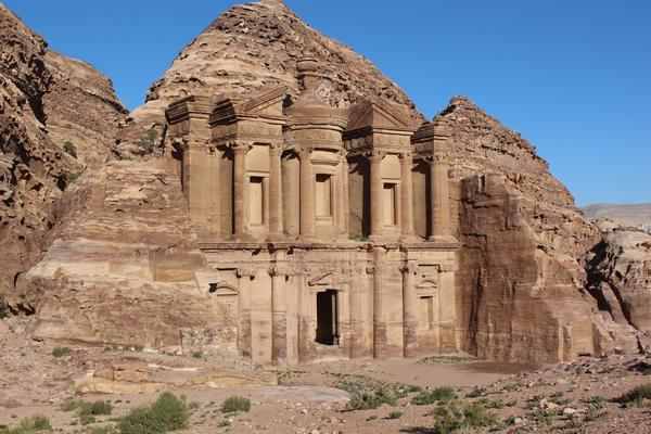The facade of Deir, carved our of the rock