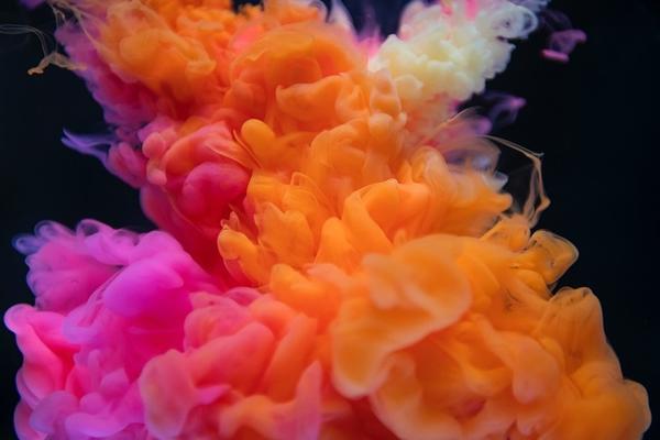 Multi-coloured smoke