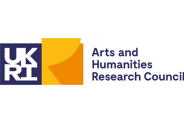 Logo for: UK Research and Innovation. Arts and Humanities Research Council.