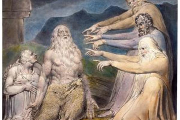 william blake job rebuked by his friends