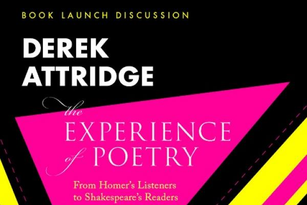 Derek Attridge Book Launch Poster