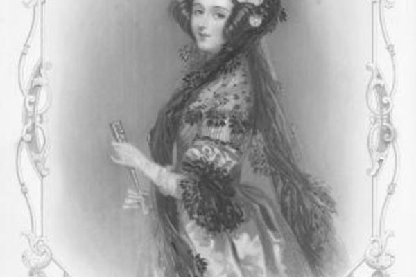 engraved portrait of ada lovelace
