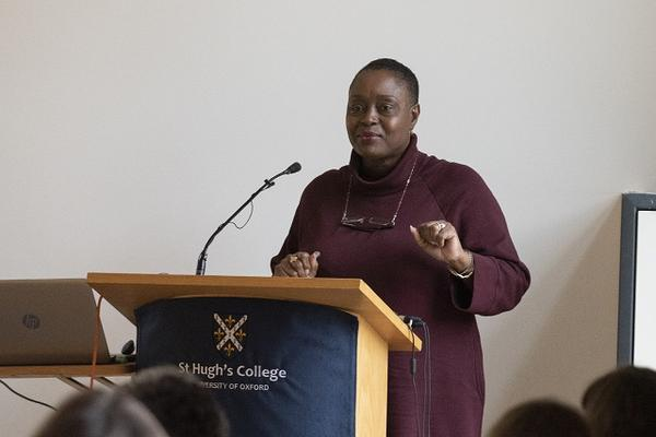 Hilary Carty speaks as part of 'Women Making History: The Leaders of Today' at the Women & Power conference © Stuart Bebb