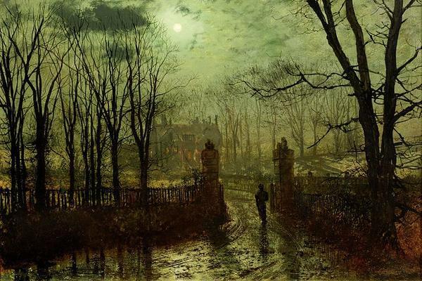 john atkinson grimshaw at the park gate 1878