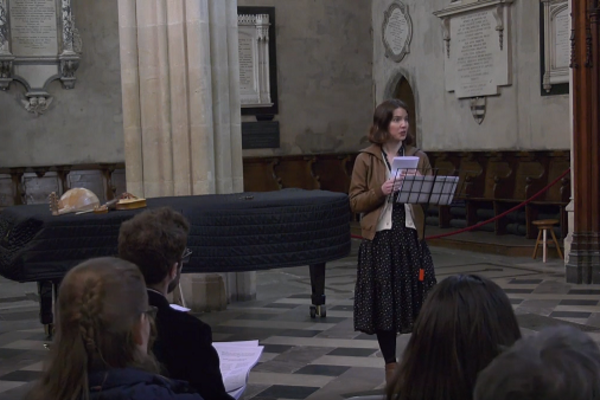 1 Lecture-recital of medieval song
