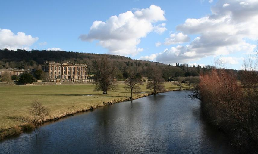 Chatsworth house from the park