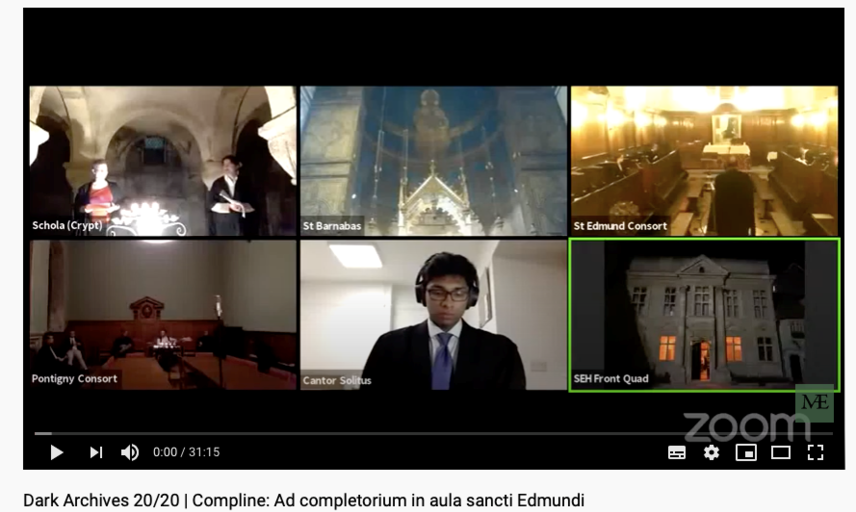 Screenshot of 6 views on virtual meeting platform