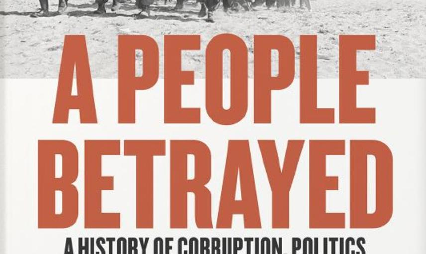 book cover of Paul Preston's A People Betrayed featuring black and white image of refugees