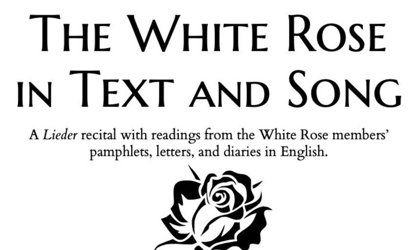 white rose recital poster