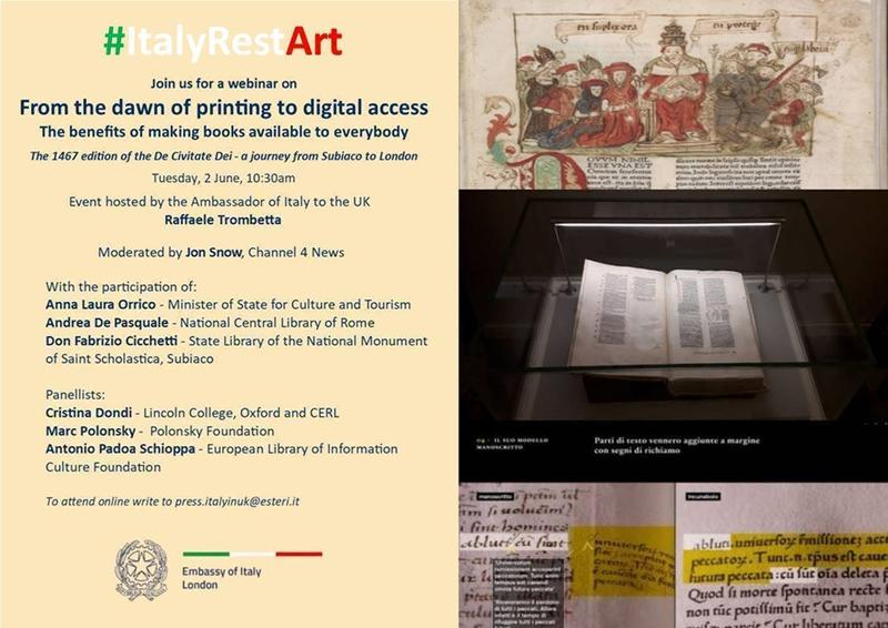 Image of #ItalyRestArt showing manuscripts