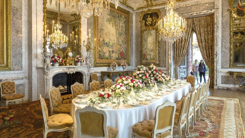 jewish country house dining room at waddesdon