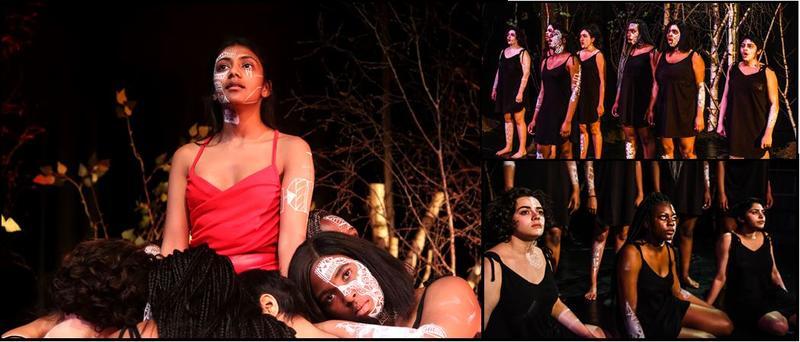 medea mosaic different images of Medea production showing actors of colour