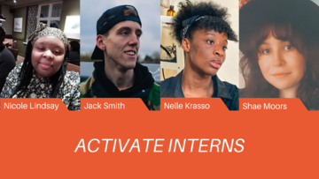 Photos of the four activate interns: Nicole Lindsay, Jack Smith, Nelle Krasso and Shae Moors