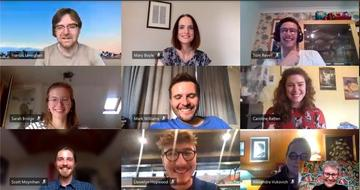 photo showing 10 people in a Zoom call