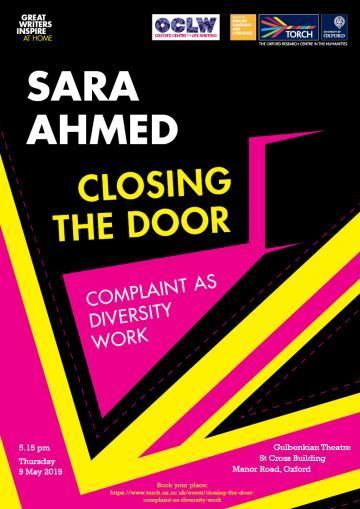 Sara Ahmed Closing the Door