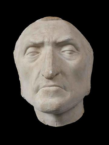 mask of Dante, shaped from stone