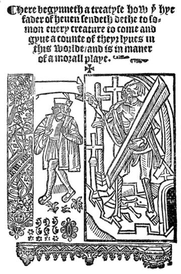 woodcut of Everyman
