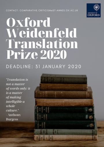 oxford weidenfeld translation prize