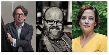 Portrait photos of Philip Bullock, Wes Williams and Maria del Pilar Blanco