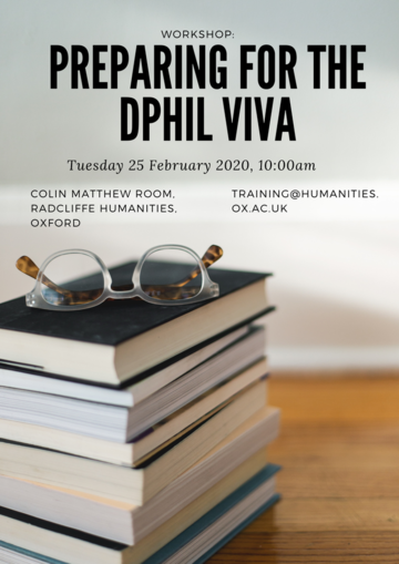 preparing for the dphil viva