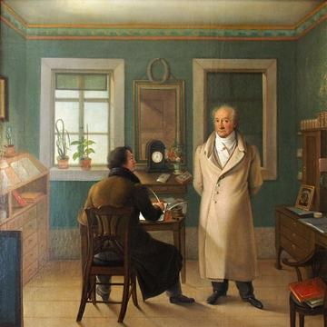 goethe dictating