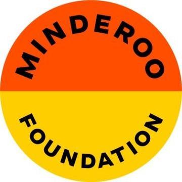 minderoo foundation logo circle with top half orange and bottom half yellow