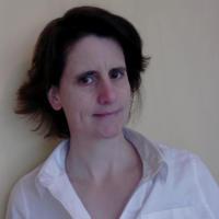 self portrait of Cécile Fabre